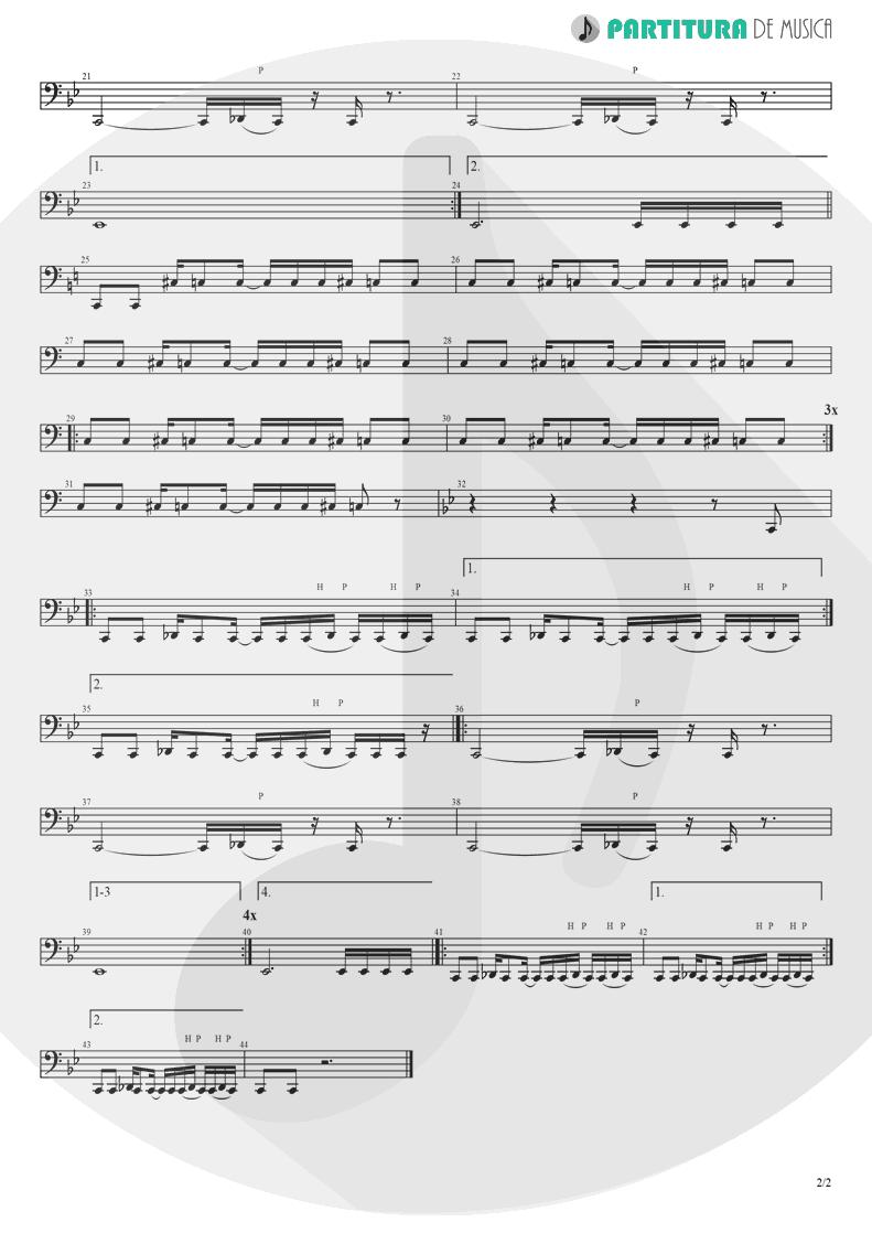 Partitura de musica de Baixo Elétrico - I Am Loco | Ill Nino | Revolution Revolucion 2001 - pag 2