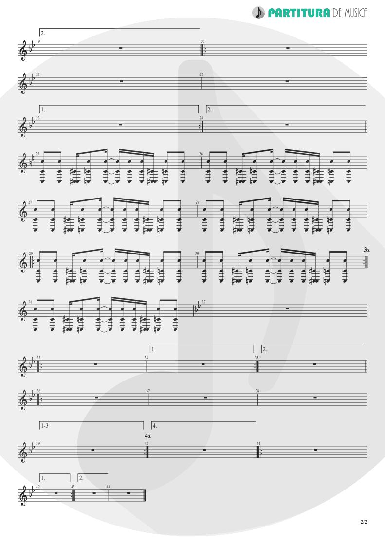 Partitura de musica de Banjo - I Am Loco   Ill Nino   Revolution Revolucion 2001 - pag 2