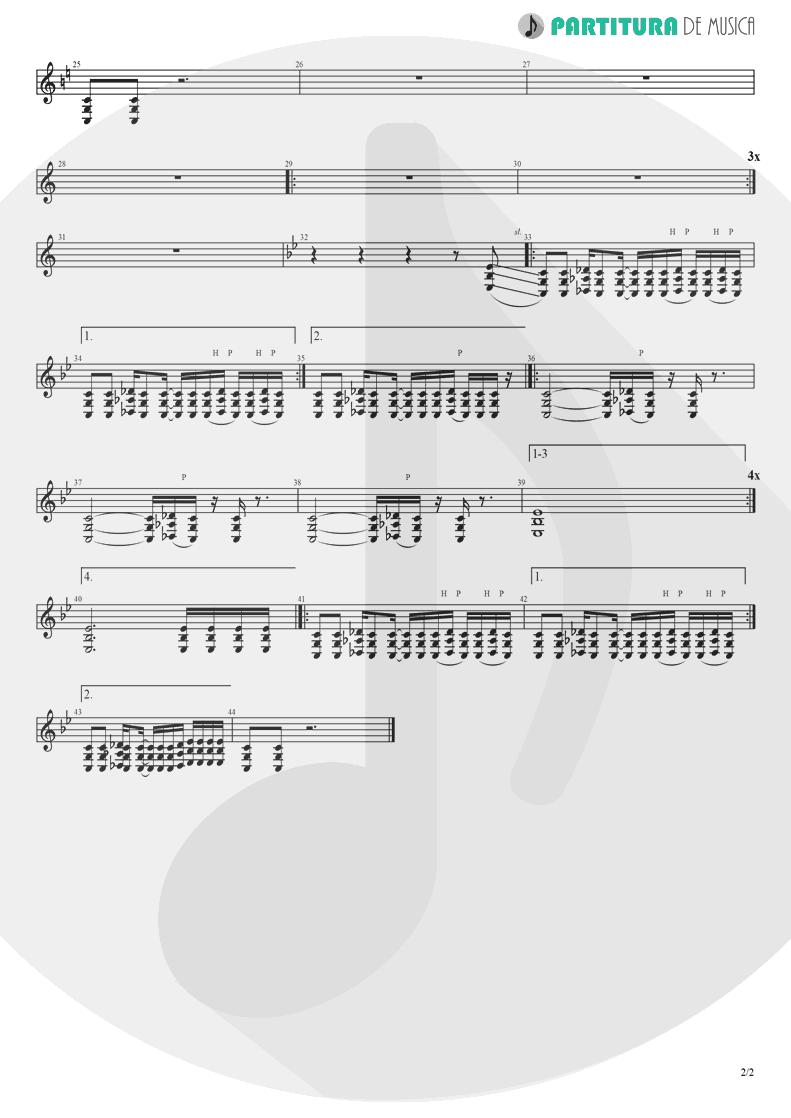 Partitura de musica de Guitarra Elétrica - I Am Loco | Ill Nino | Revolution Revolucion 2001 - pag 2