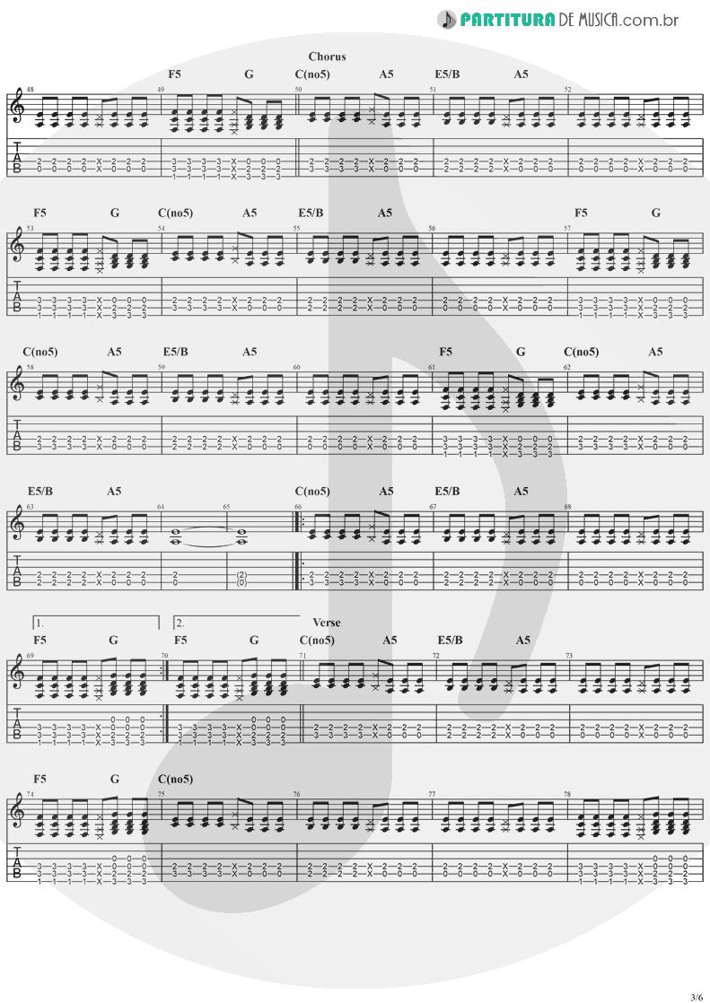 Tablatura + Partitura de musica de Violão - Taylor | Jack Johnson | On And On 2003 - pag 3