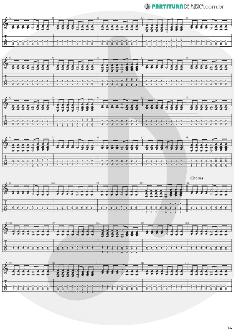 Tablatura + Partitura de musica de Violão - Taylor | Jack Johnson | On And On 2003 - pag 4