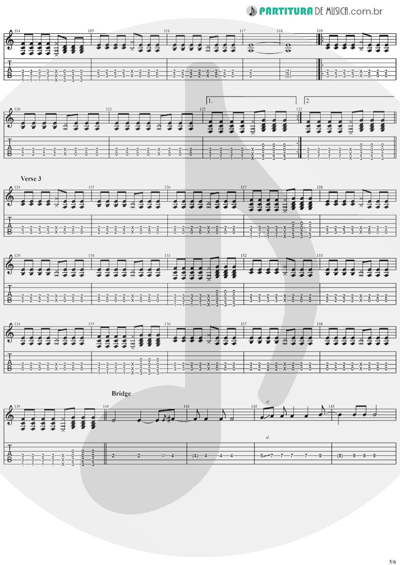 Tablatura + Partitura de musica de Violão - Taylor | Jack Johnson | On And On 2003 - pag 5