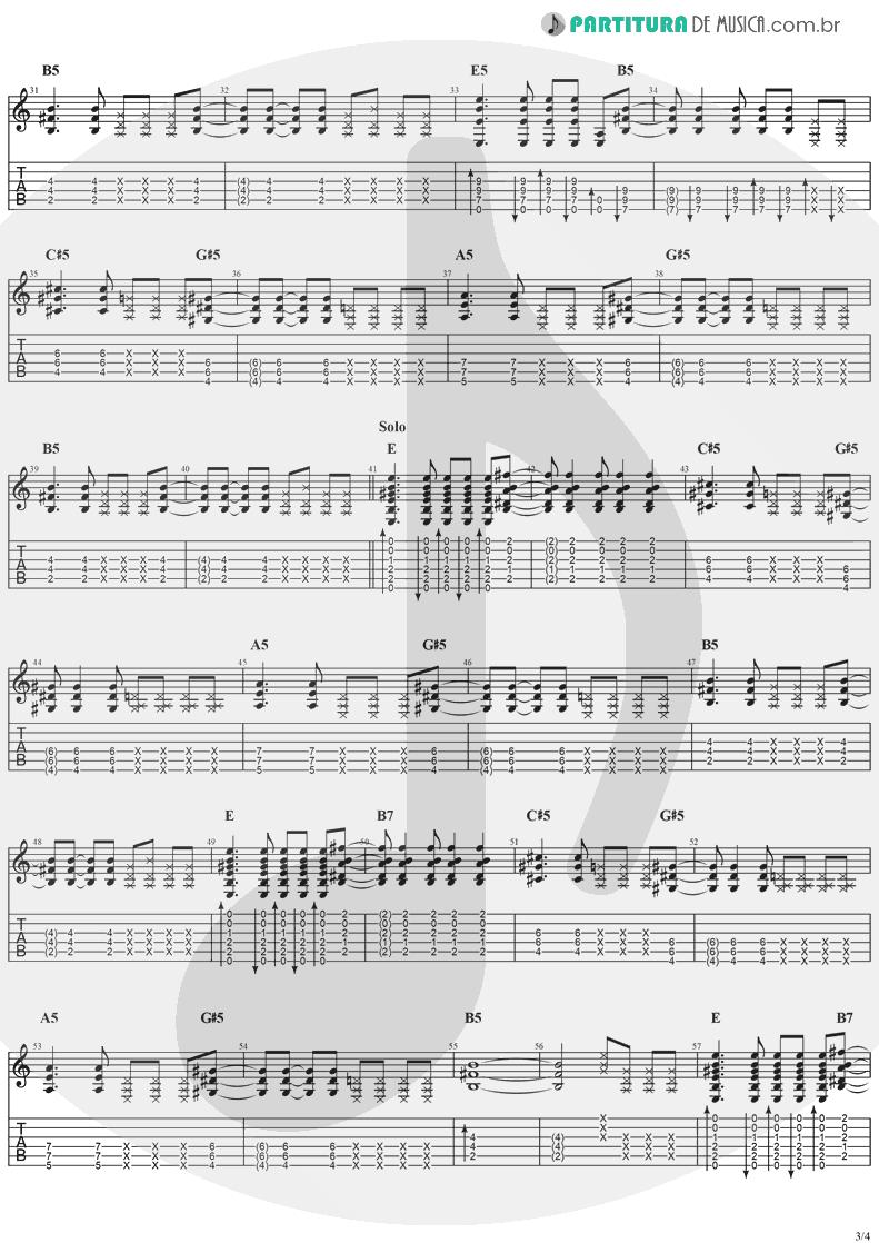 Tablatura + Partitura de musica de Violão - Moonshine   Jack Johnson   Thicker Than Water 2003 - pag 3