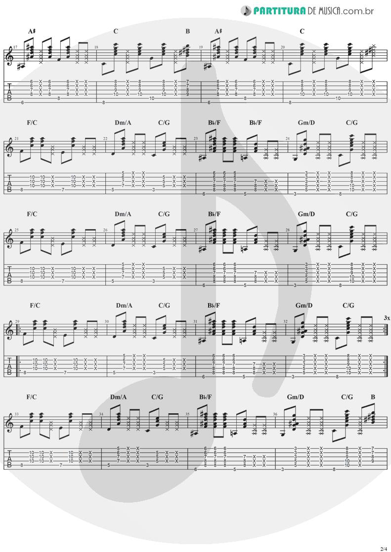 Tablatura + Partitura de musica de Violão - Better Together   Jack Johnson   In Between Dreams 2005 - pag 2
