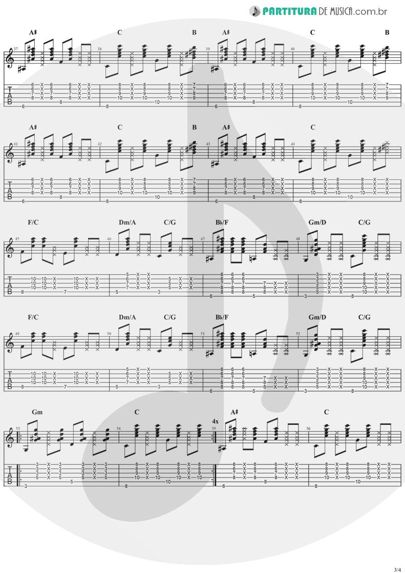 Tablatura + Partitura de musica de Violão - Better Together   Jack Johnson   In Between Dreams 2005 - pag 3