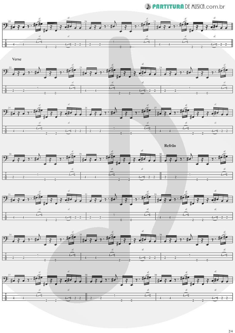 Tablatura + Partitura de musica de Baixo Elétrico - Good People | Jack Johnson | In Between Dreams 2005 - pag 2