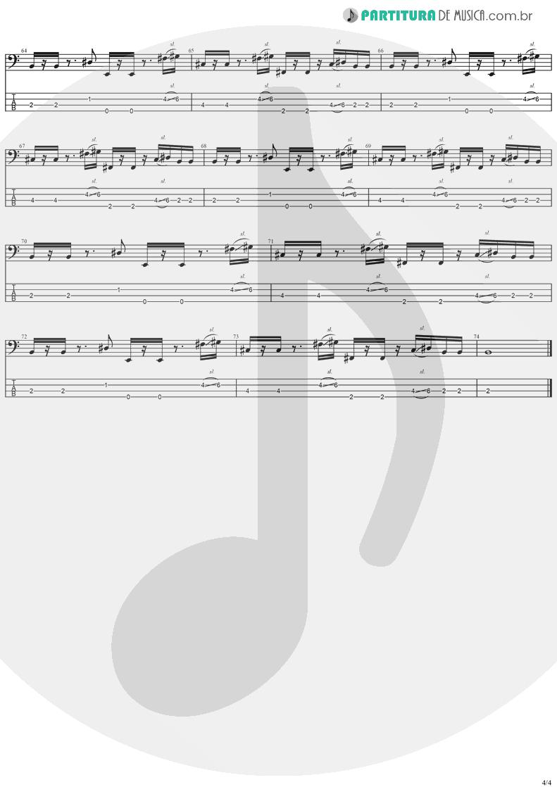 Tablatura + Partitura de musica de Baixo Elétrico - Good People | Jack Johnson | In Between Dreams 2005 - pag 4