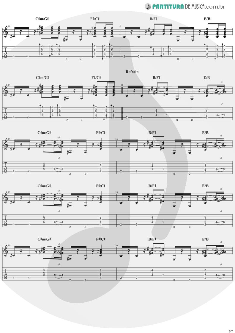 Tablatura + Partitura de musica de Violão - Good People | Jack Johnson | In Between Dreams 2005 - pag 2