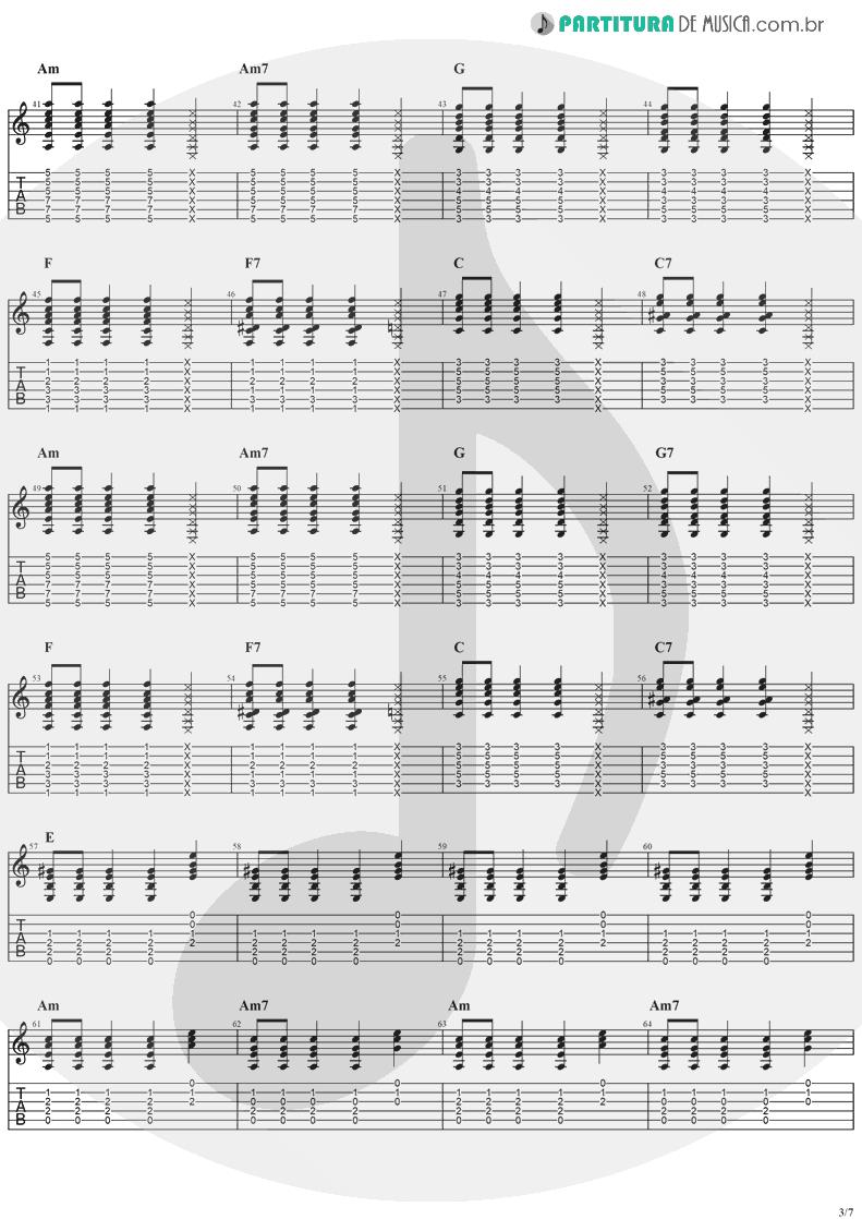 Tablatura + Partitura de musica de Violão - Sitting, Waiting, Wishing | Jack Johnson | In Between Dreams 2005 - pag 3