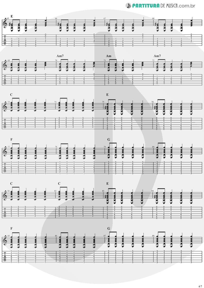 Tablatura + Partitura de musica de Violão - Sitting, Waiting, Wishing | Jack Johnson | In Between Dreams 2005 - pag 4