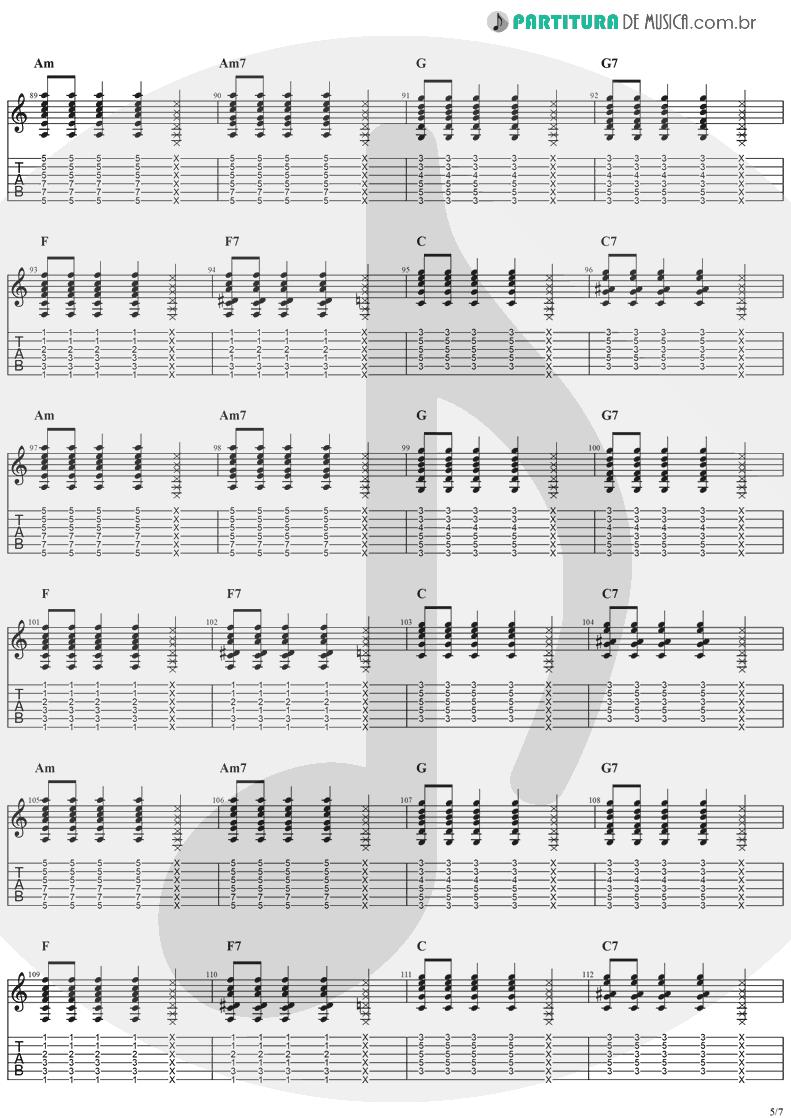 Tablatura + Partitura de musica de Violão - Sitting, Waiting, Wishing | Jack Johnson | In Between Dreams 2005 - pag 5
