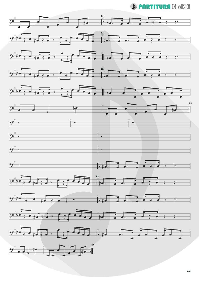 Partitura de musica de Baixo Elétrico - Deeper Underground | Jamiroquai | Godzilla: The Album 1998 - pag 2