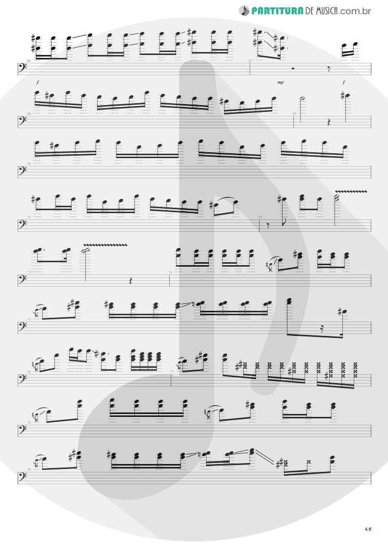 Partitura de musica de Baixo Elétrico - All Along The Watchtower   Jimi Hendrix   Electric Ladyland 1968 - pag 4