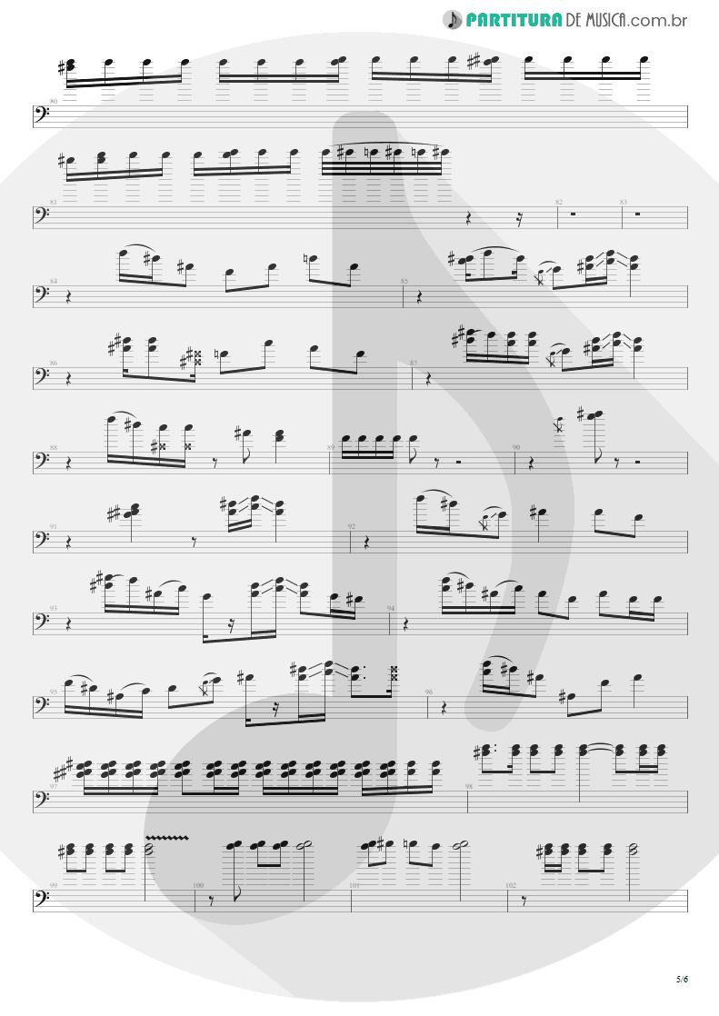 Partitura de musica de Baixo Elétrico - All Along The Watchtower   Jimi Hendrix   Electric Ladyland 1968 - pag 5