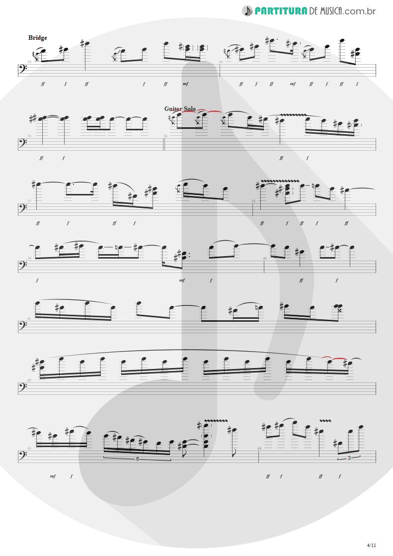 Partitura de musica de Baixo Elétrico - Purple Haze | Jimi Hendrix | Live at the Royal Albert Hall 1969 - pag 4