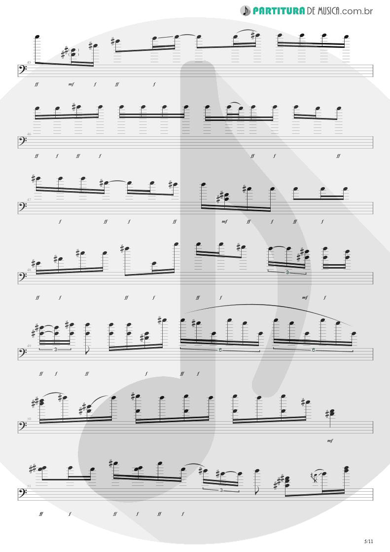 Partitura de musica de Baixo Elétrico - Purple Haze | Jimi Hendrix | Live at the Royal Albert Hall 1969 - pag 5