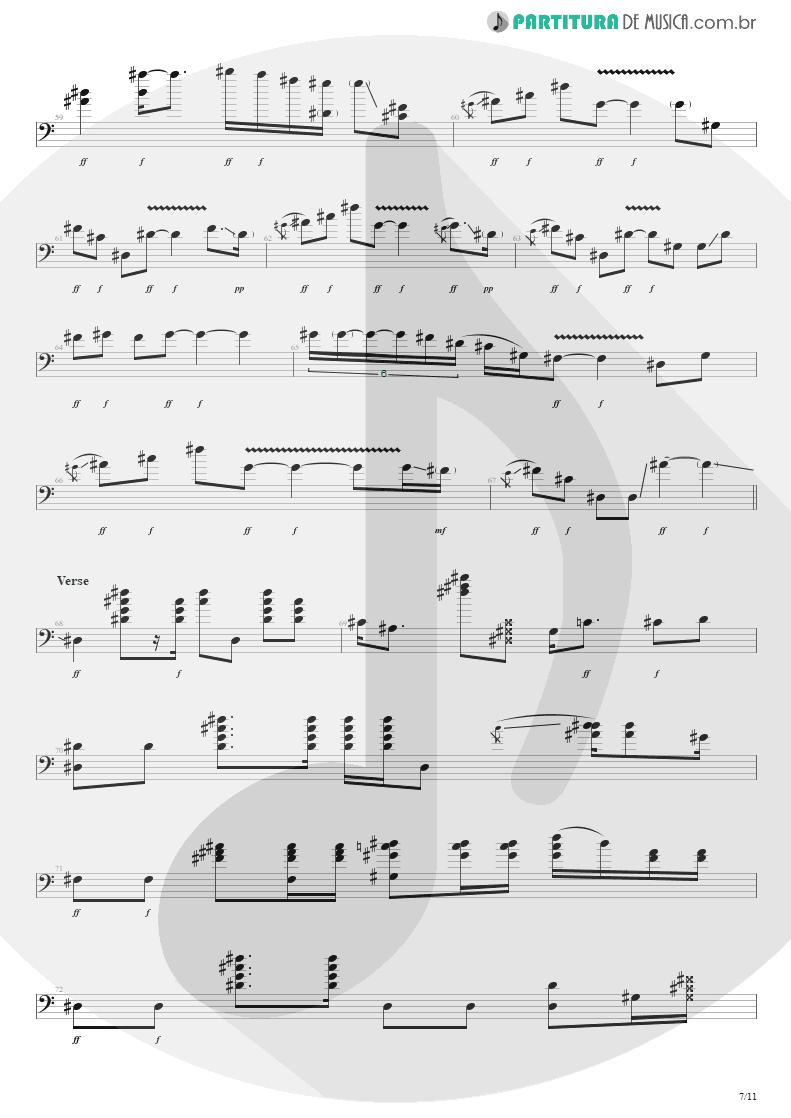 Partitura de musica de Baixo Elétrico - Purple Haze | Jimi Hendrix | Live at the Royal Albert Hall 1969 - pag 7