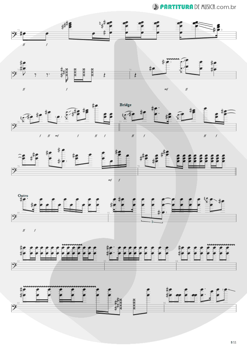 Partitura de musica de Baixo Elétrico - Purple Haze | Jimi Hendrix | Live at the Royal Albert Hall 1969 - pag 8