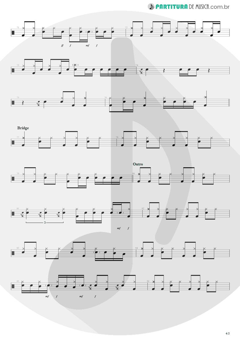 Partitura de musica de Bateria - Purple Haze   Jimi Hendrix   Live at the Royal Albert Hall 1969 - pag 4