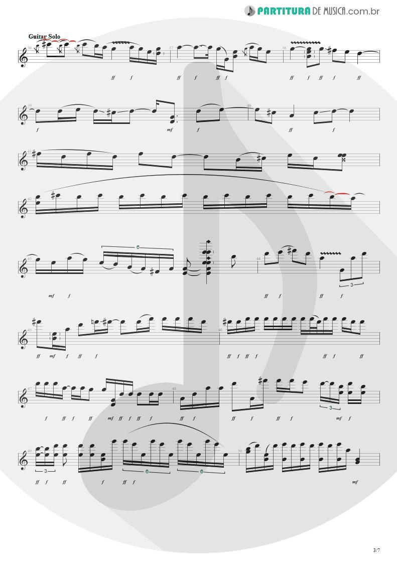 Partitura de musica de Guitarra Elétrica - Purple Haze | Jimi Hendrix | Live at the Royal Albert Hall 1969 - pag 3