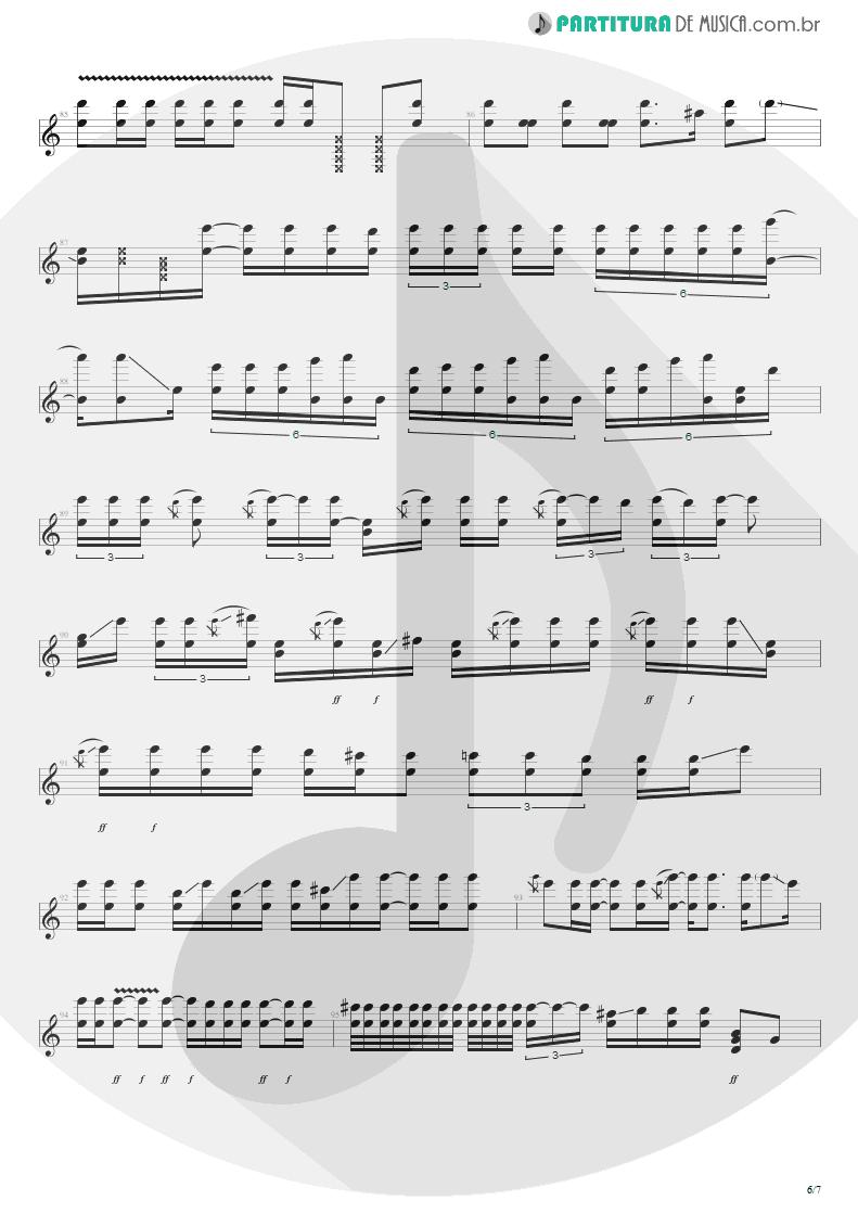Partitura de musica de Guitarra Elétrica - Purple Haze | Jimi Hendrix | Live at the Royal Albert Hall 1969 - pag 6