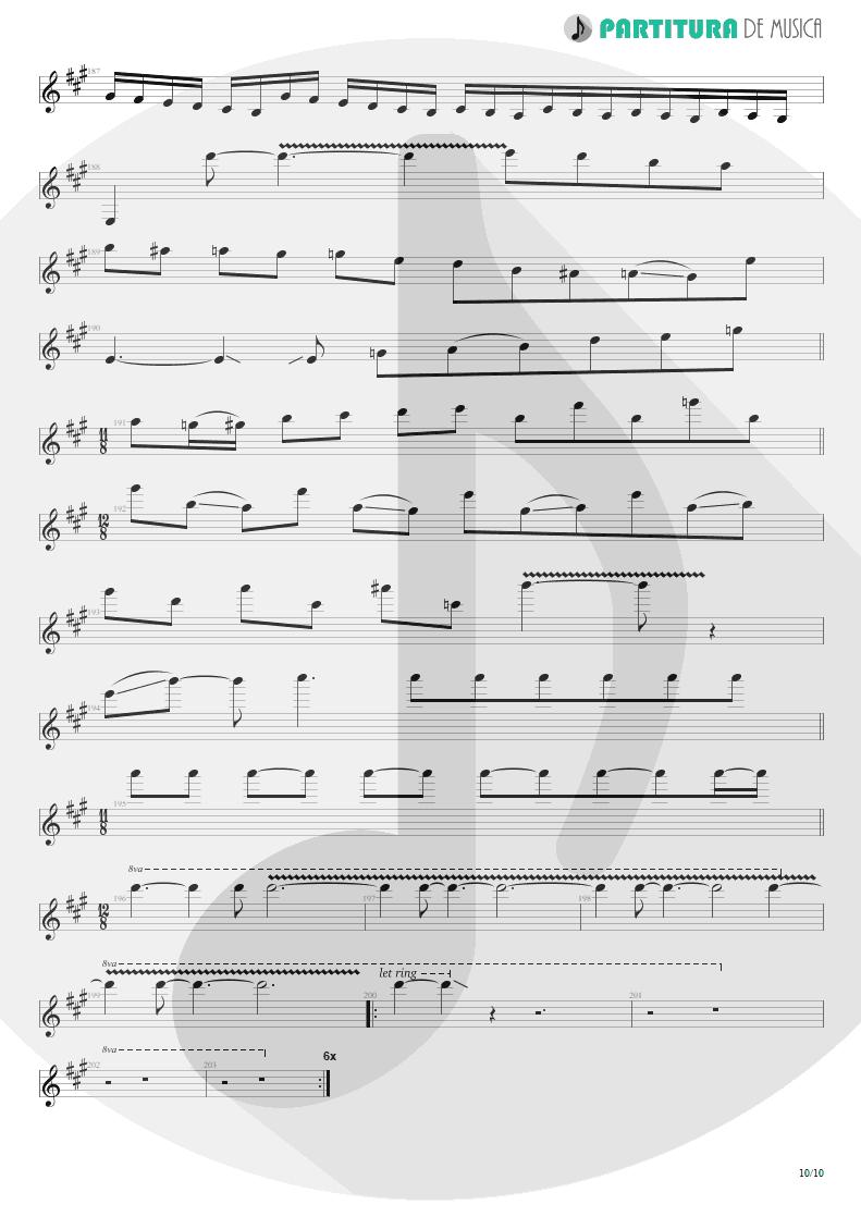 Partitura de musica de Guitarra Elétrica - Glasgow Kiss | John Petrucci | Suspended Animation 2005 - pag 10