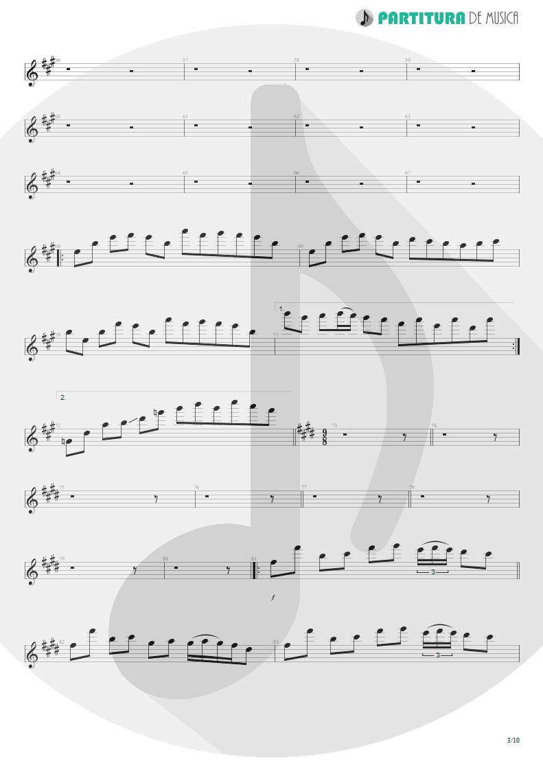 Partitura de musica de Guitarra Elétrica - Glasgow Kiss | John Petrucci | Suspended Animation 2005 - pag 3