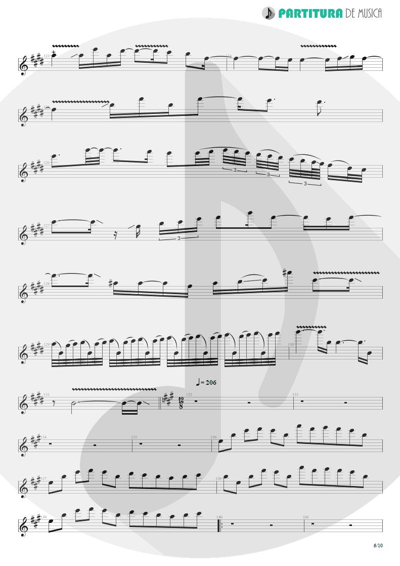 Partitura de musica de Guitarra Elétrica - Glasgow Kiss | John Petrucci | Suspended Animation 2005 - pag 6