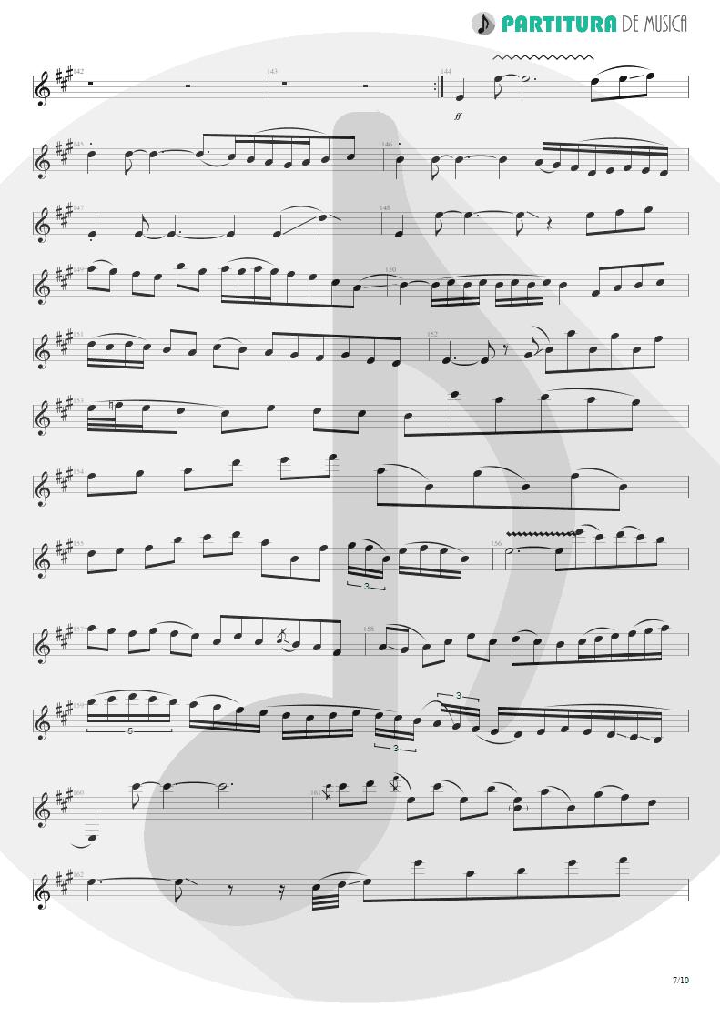 Partitura de musica de Guitarra Elétrica - Glasgow Kiss | John Petrucci | Suspended Animation 2005 - pag 7