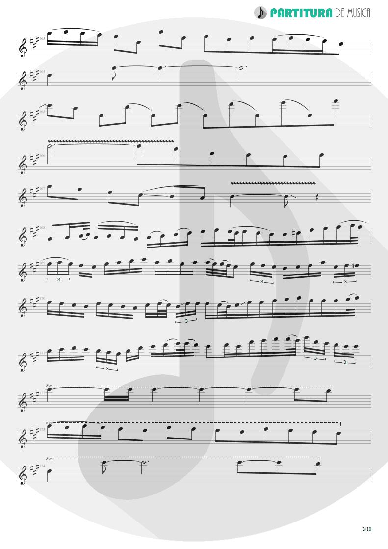 Partitura de musica de Guitarra Elétrica - Glasgow Kiss | John Petrucci | Suspended Animation 2005 - pag 8