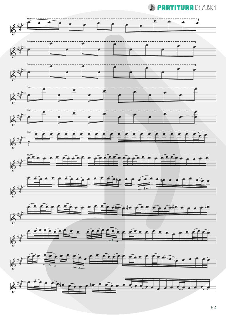 Partitura de musica de Guitarra Elétrica - Glasgow Kiss | John Petrucci | Suspended Animation 2005 - pag 9