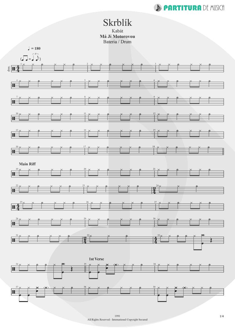 Partitura de musica de Bateria - Skrblík  001b199d237