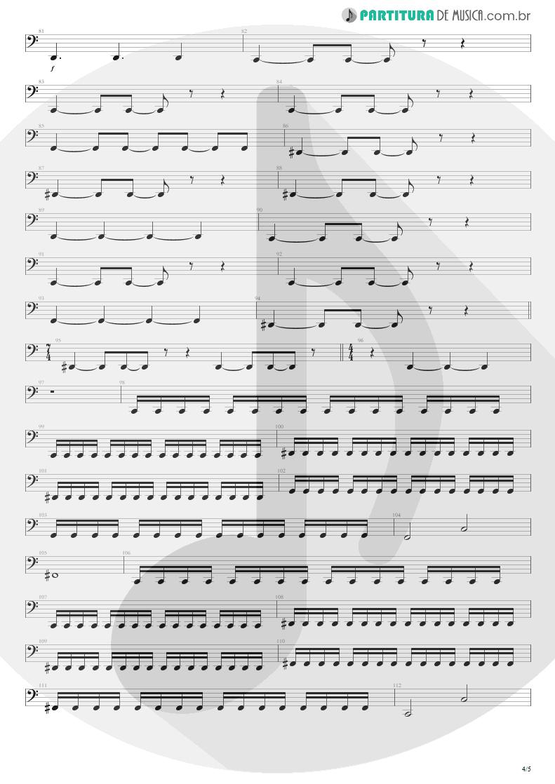 Partitura de musica de Baixo Elétrico - Enfermo   Kiko Loureiro   No Gravity 2005 - pag 4