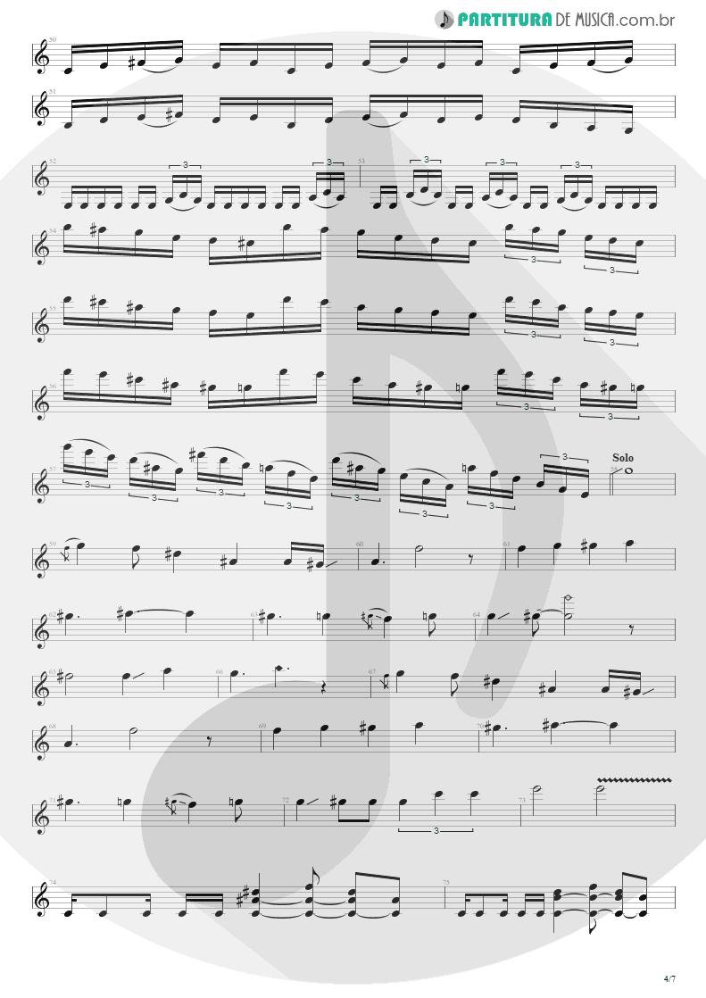Partitura de musica de Guitarra Elétrica - Enfermo   Kiko Loureiro   No Gravity 2005 - pag 4