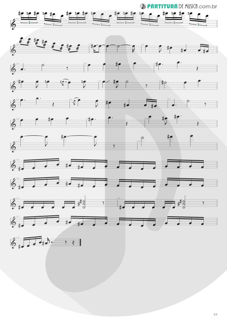 Partitura de musica de Guitarra Elétrica - Enfermo   Kiko Loureiro   No Gravity 2005 - pag 7