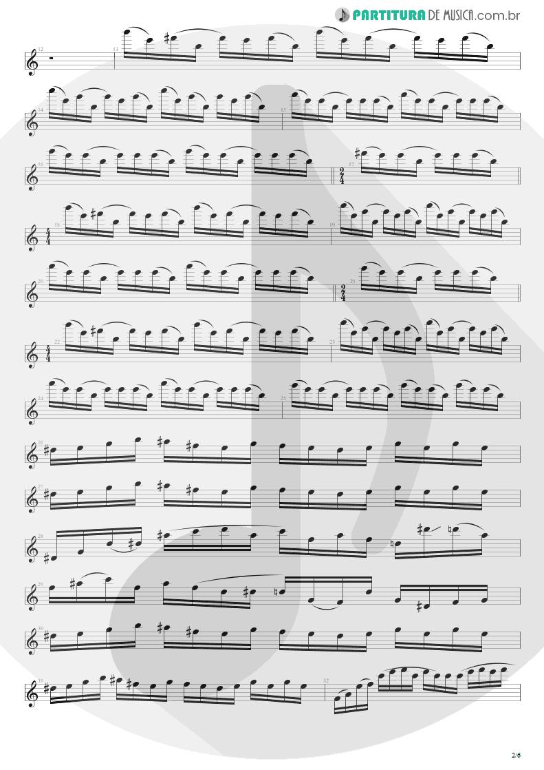 Partitura de musica de Guitarra Elétrica - Enfermo | Kiko Loureiro | No Gravity 2005 - pag 2
