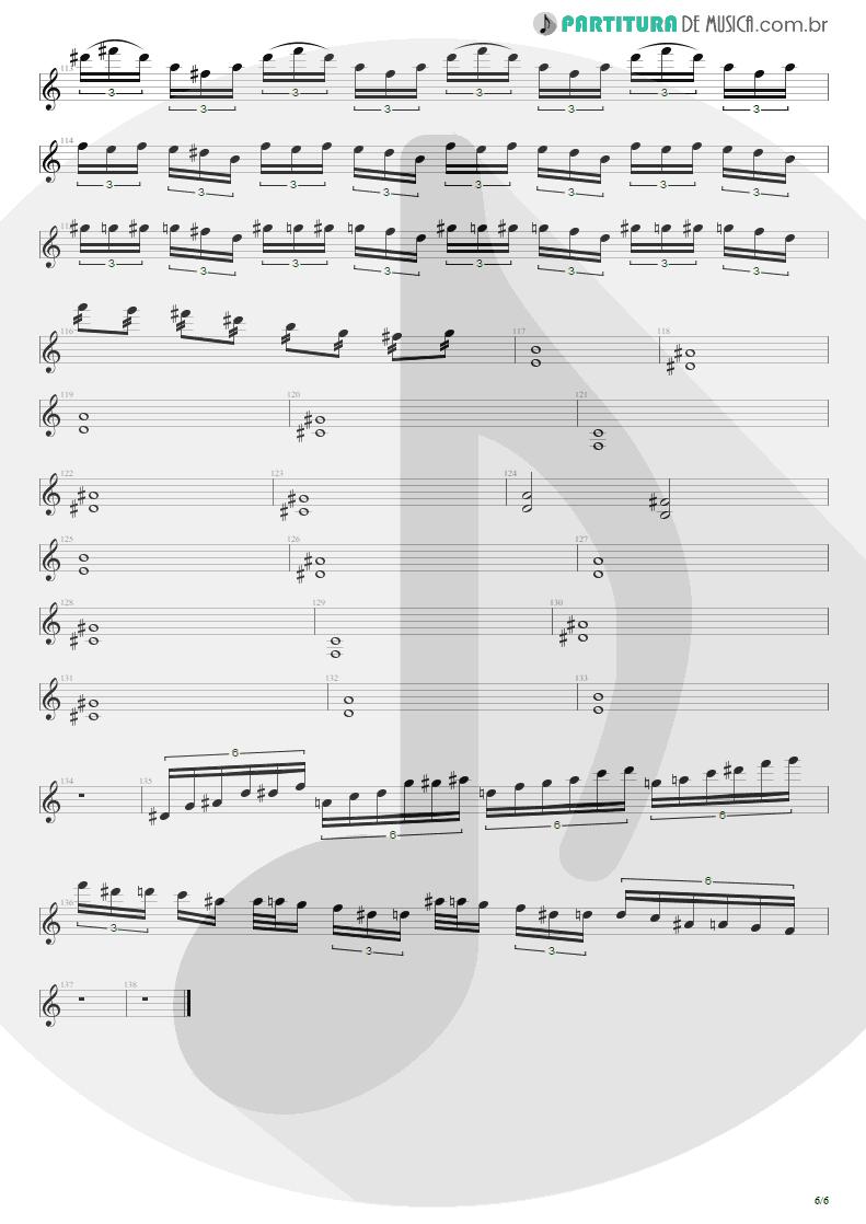 Partitura de musica de Guitarra Elétrica - Enfermo | Kiko Loureiro | No Gravity 2005 - pag 6