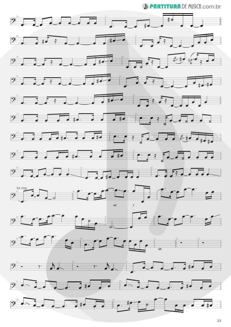 Partitura de musica de Baixo Elétrico - No Gravity | Kiko Loureiro | No Gravity 2005 - pag 2