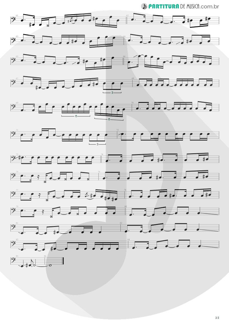 Partitura de musica de Baixo Elétrico - No Gravity | Kiko Loureiro | No Gravity 2005 - pag 3