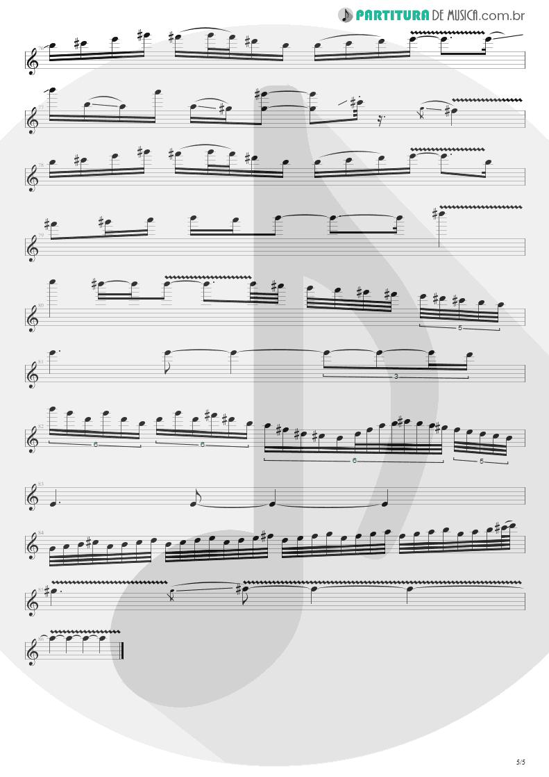 Partitura de musica de Guitarra Elétrica - No Gravity | Kiko Loureiro | No Gravity 2005 - pag 5