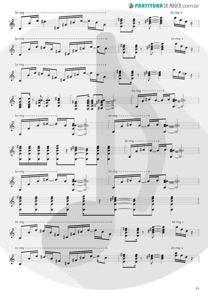 Partitura de musica de Guitarra Elétrica - No Gravity | Kiko Loureiro | No Gravity 2005 - pag 2