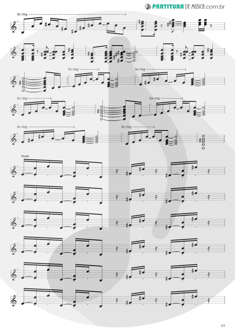 Partitura de musica de Guitarra Elétrica - No Gravity | Kiko Loureiro | No Gravity 2005 - pag 3