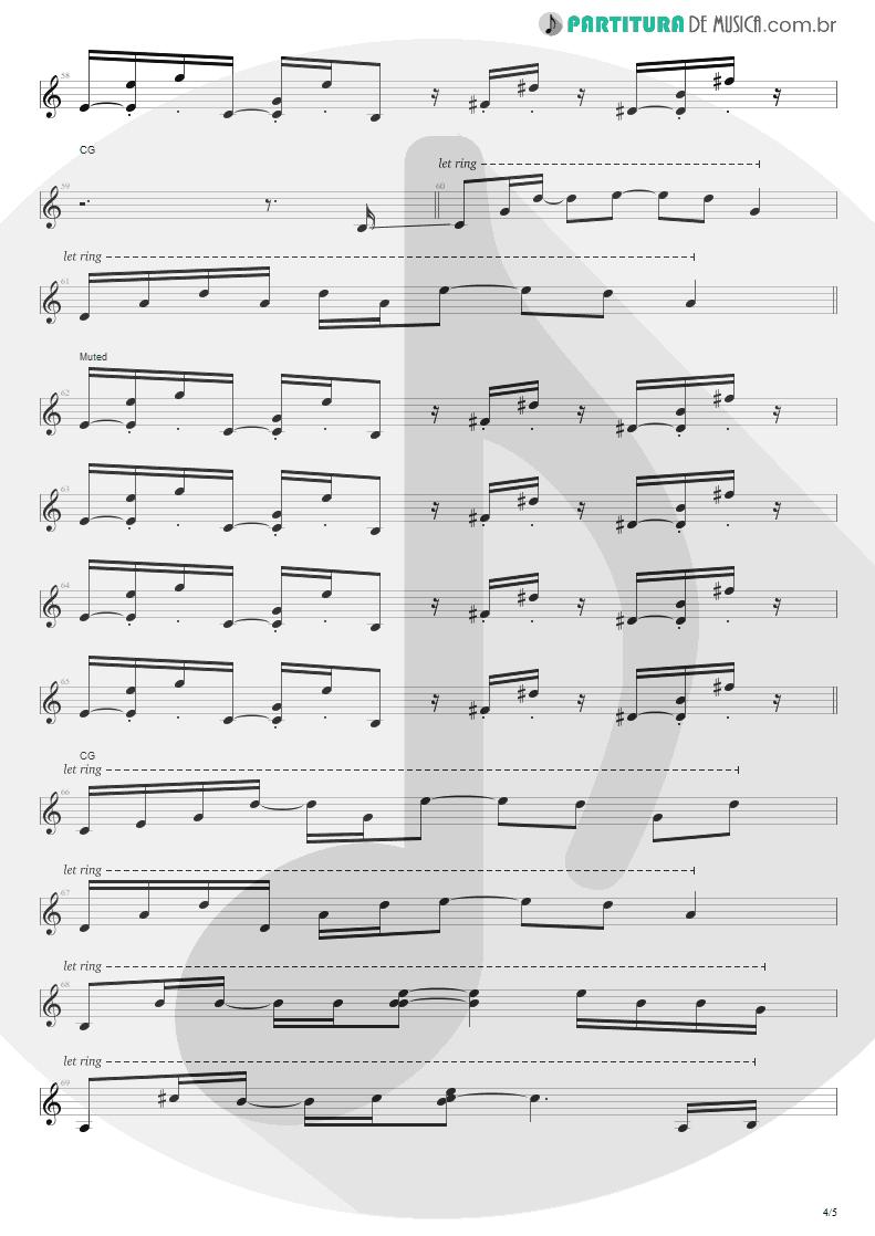 Partitura de musica de Guitarra Elétrica - No Gravity | Kiko Loureiro | No Gravity 2005 - pag 4