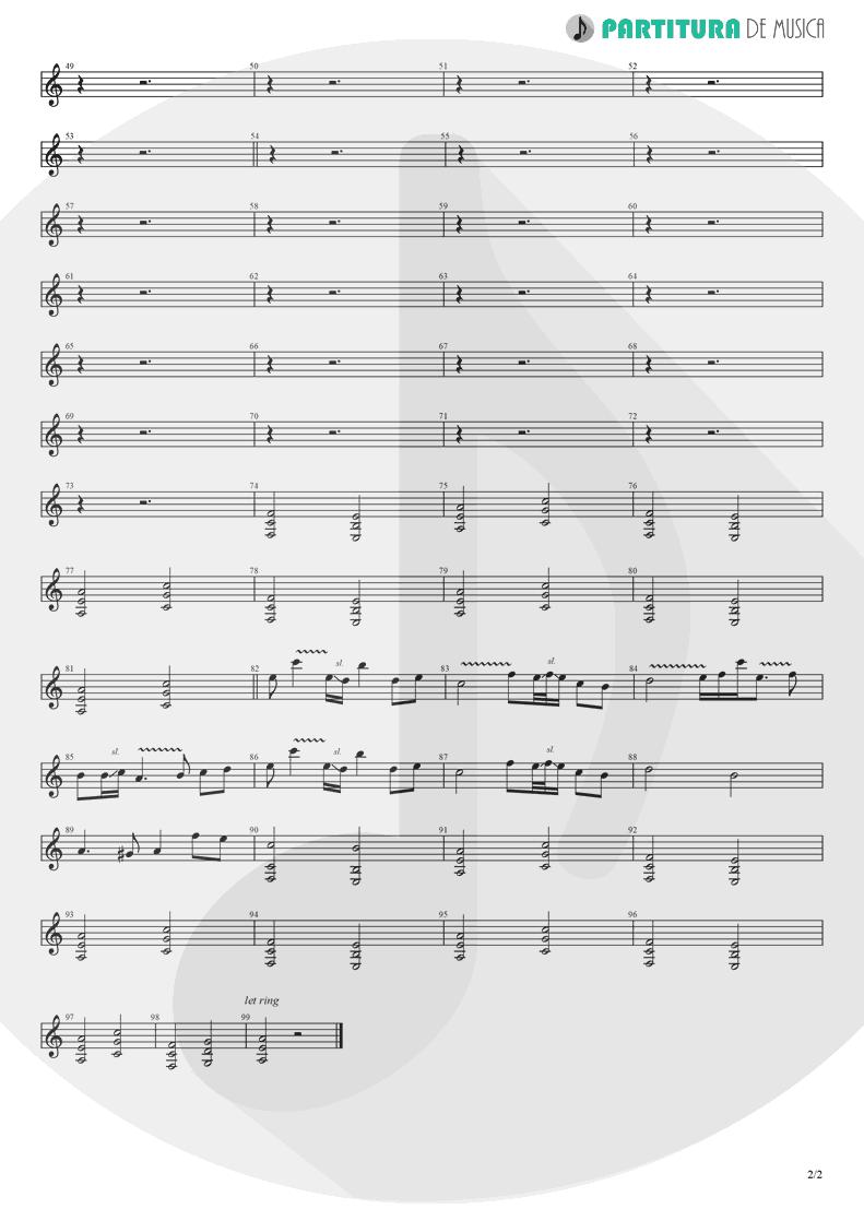 Partitura de musica de Guitarra Elétrica - Falling Again | Lacuna Coil | In A Reverie 1999 - pag 2