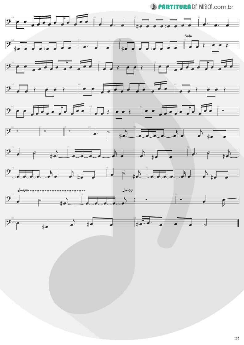 Partitura de musica de Baixo Elétrico - Fields Of Joy | Lenny Kravitz | Mama Said 1991 - pag 2