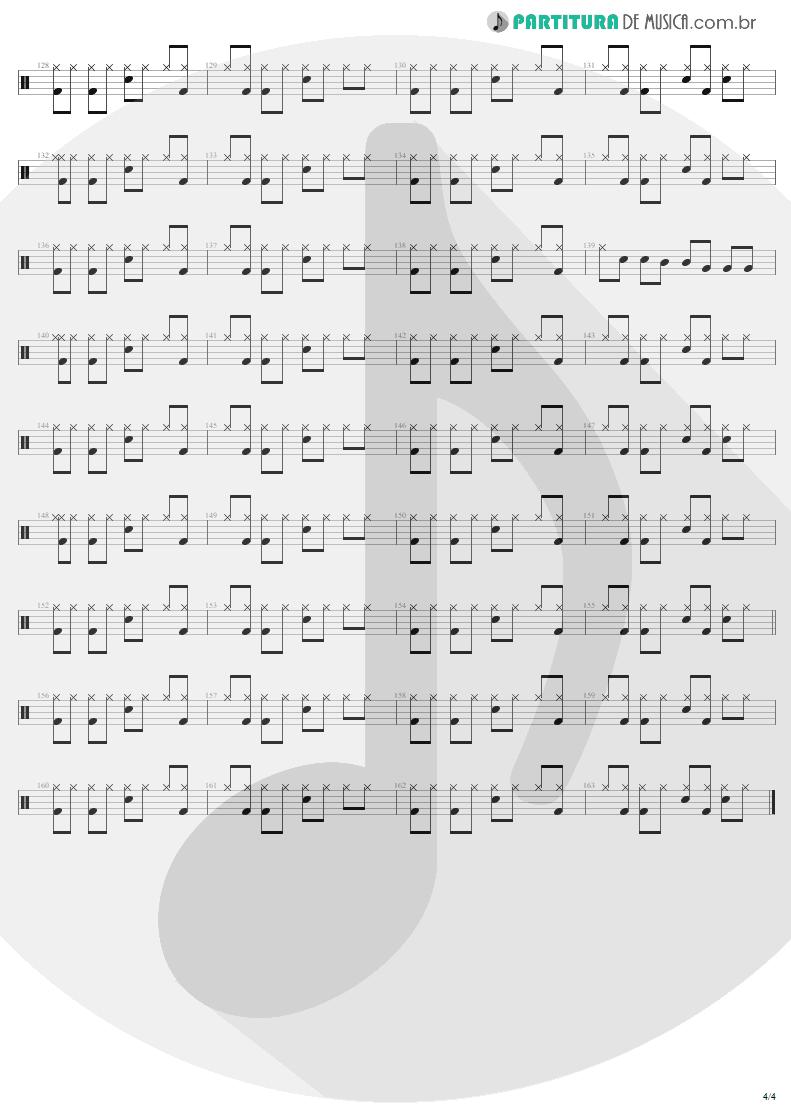 Partitura de musica de Bateria - It Ain't Over Till It's Over   Lenny Kravitz   Mama Said 1991 - pag 4