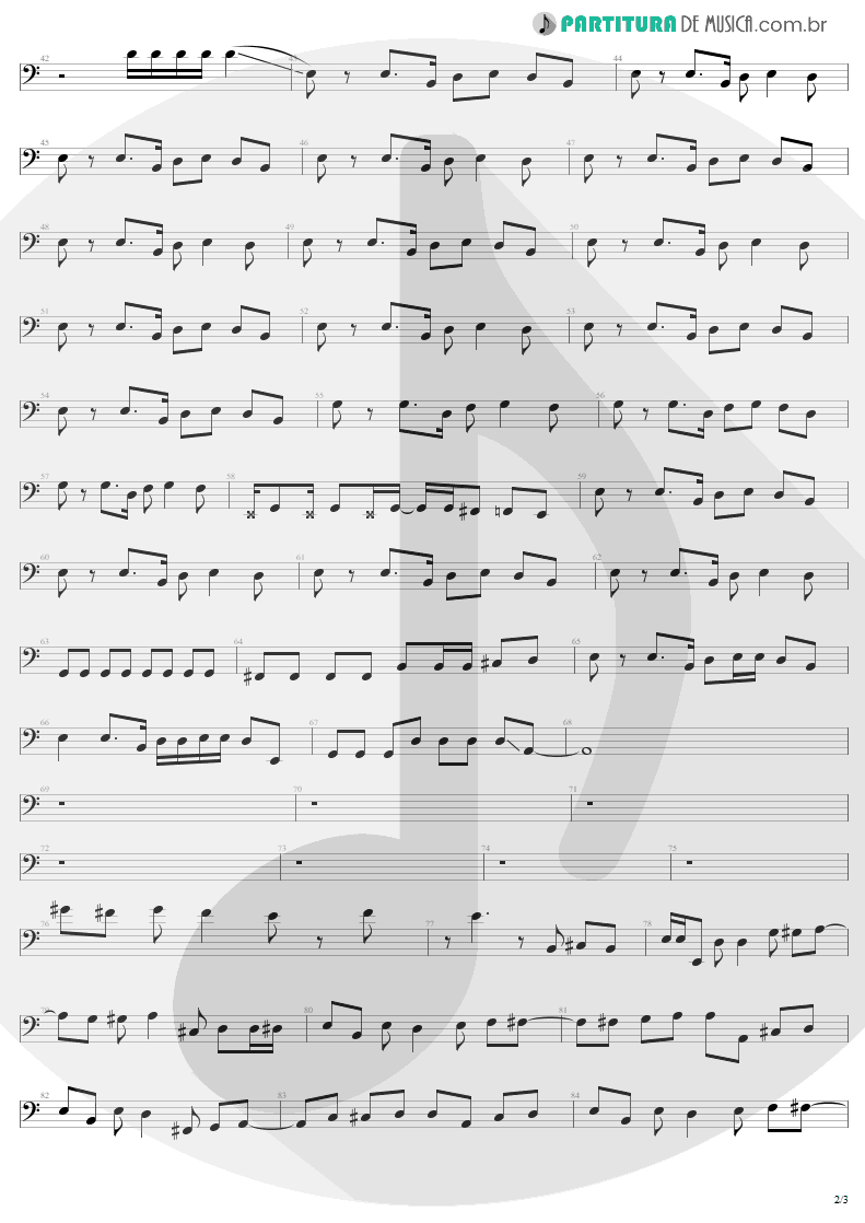 Partitura de musica de Baixo Elétrico - Are You Gonna Go My Way | Lenny Kravitz | Are You Gonna Go My Way 1993 - pag 2