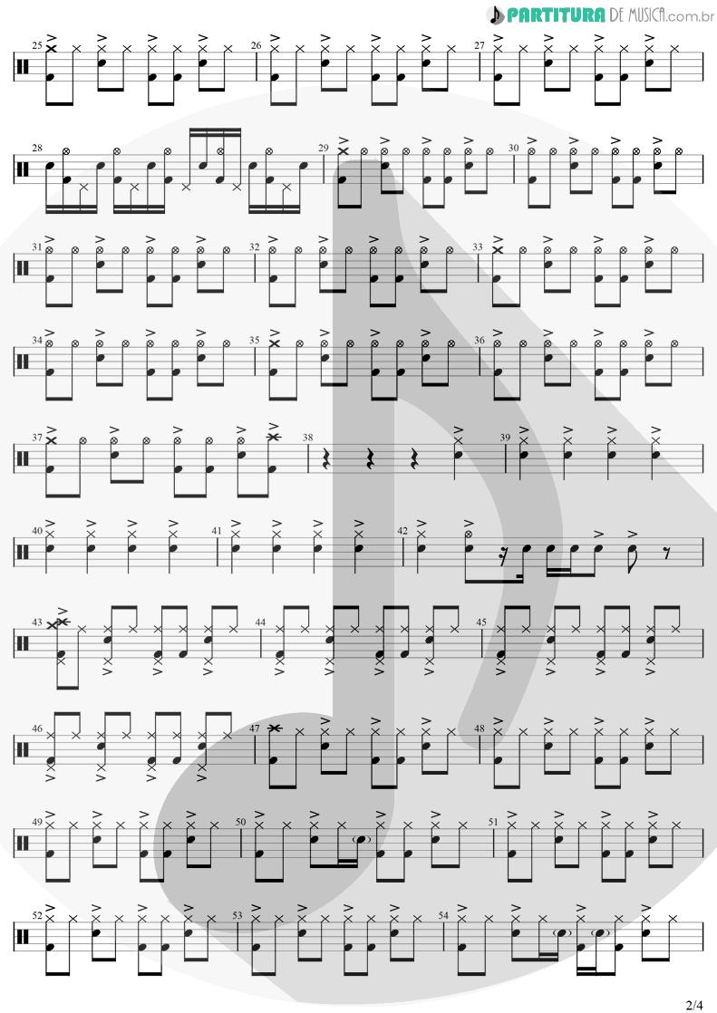 Partitura de musica de Bateria - Are You Gonna Go My Way | Lenny Kravitz | Are You Gonna Go My Way 1993 - pag 2