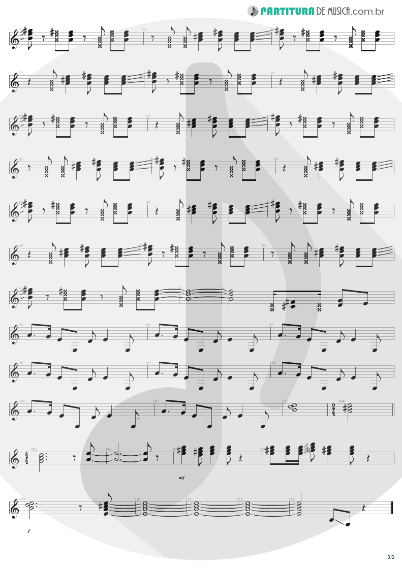 Partitura de musica de Guitarra Elétrica - Are You Gonna Go My Way | Lenny Kravitz | Are You Gonna Go My Way 1993 - pag 3