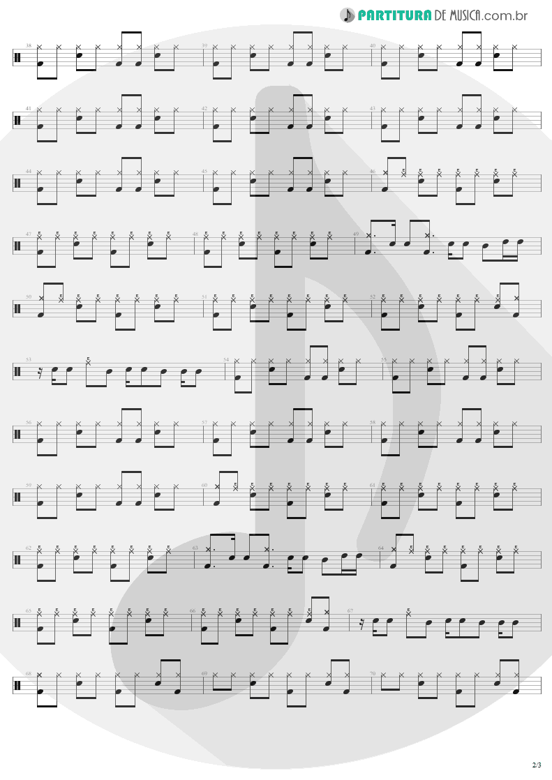 Partitura de musica de Bateria - Believe | Lenny Kravitz | Are You Gonna Go My Way 1993 - pag 2